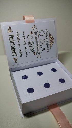 20 caixas convite casamento padrinhos frete gratis