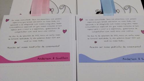 20 caixas convite lembrancinha casamento padrinhos noivinhos