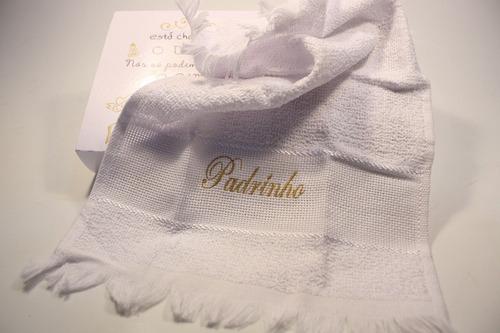 20 caixas convite madrinha padrinho toalha e sabonete o dia