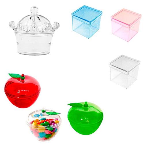 20 caixinha coroa 20 maçã 30 caixinha acrílica lembrancinha