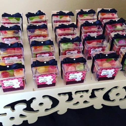20 caixinhas acrílicas lembrancinha chá de lingerie