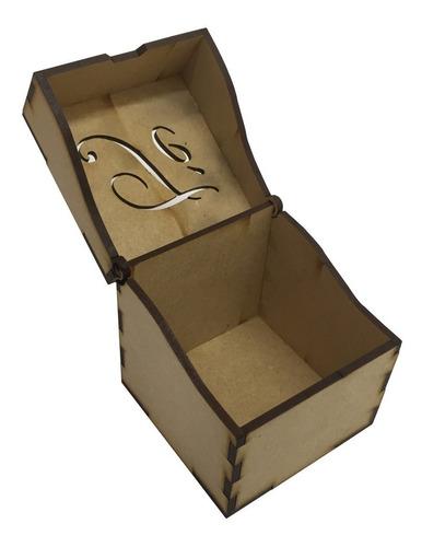 20 caja de te mini 7x7x7,5 cm ideal souvenir fibrofacil 3mm
