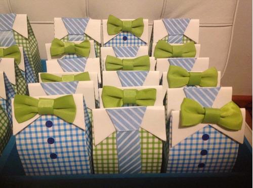 20 cajitas/dulcero baby shower envío incluido! little man