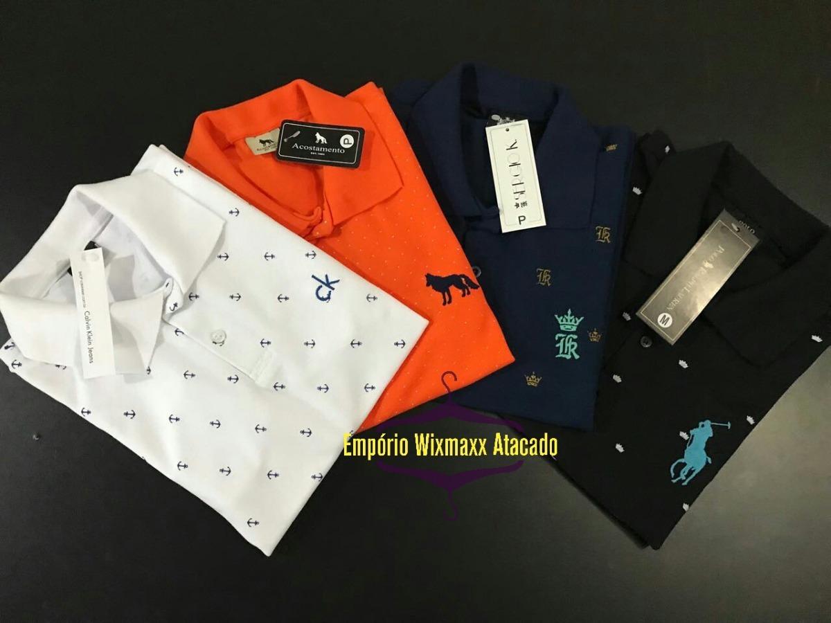 20 camisas polo camisetas masculina baratas atacado de marca. Carregando  zoom. 7df44620446