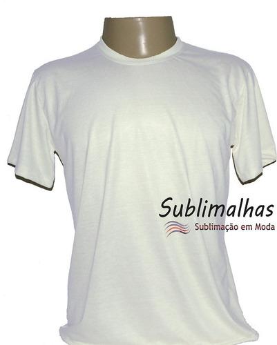 20 camisas sublimação branca e cores claras  100% poliéster