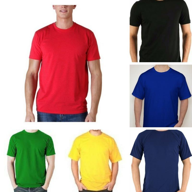 20 Camisetas Lisas Cores 100% Algodão Fio 24 Atacado - R  219 237632f6809d0