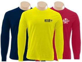 5d96d20139 Camiseta Manga Longa Malha Fria - Camisetas Masculino no Mercado Livre  Brasil