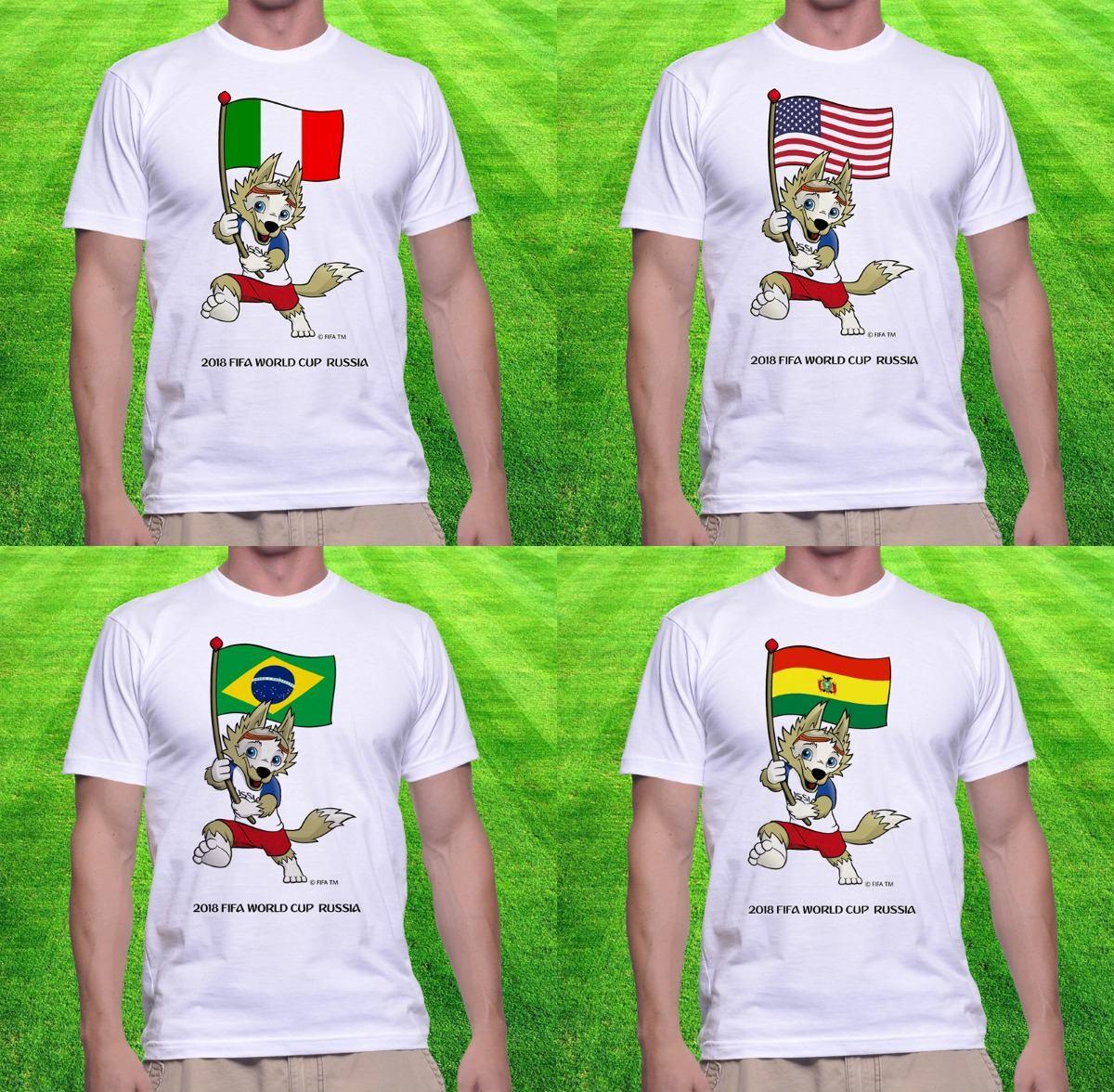 942c70204bff3 20 Camisetas Vários Times Mascote Copa Do Mundo 2018 Atacado - R ...