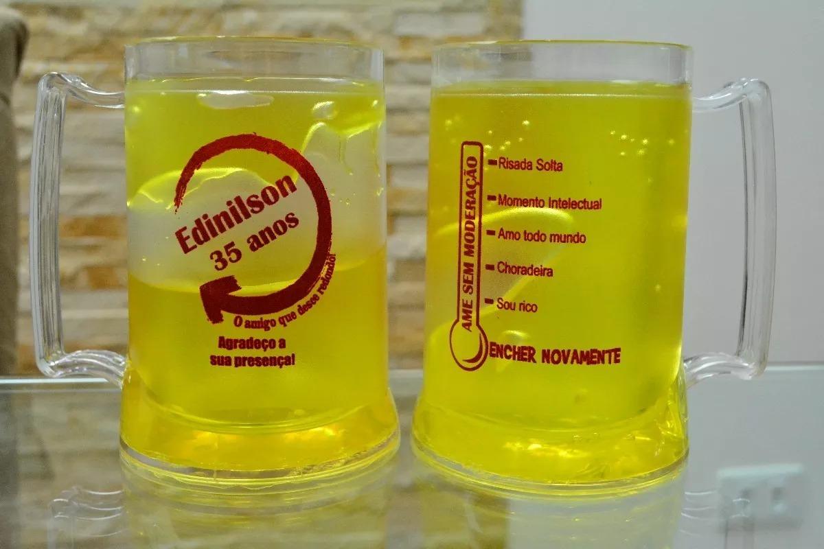 20 Canecas Gel Congelante Chopp Cerveja 450ml Personalizadas R