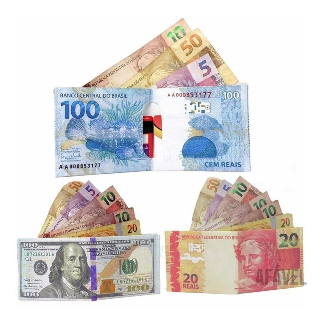 Super Slim Nota Dinheiro 100 Dolares