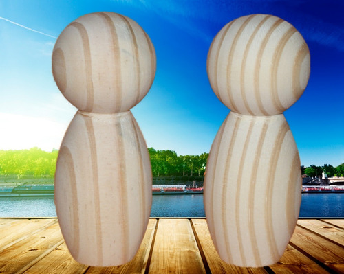 20 casal de noivinhos em madeira crú com 11,5 cm cód. 018