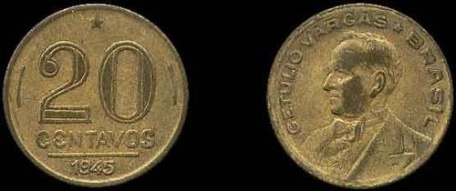 20 centavos 1945 direita: getúlio dornelles vargas