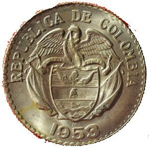 20 centavos de colombia 1953 - b