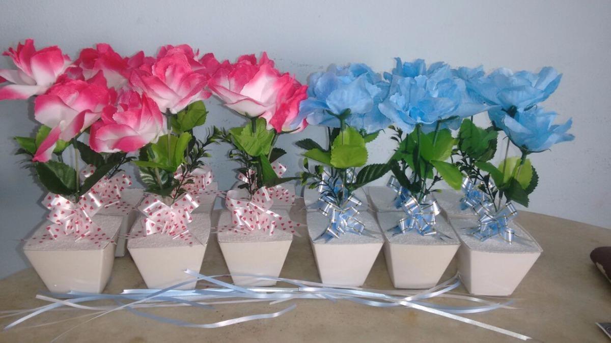 20 centro de mesa vasinho de flores personalizado com for Mesa biblioteca