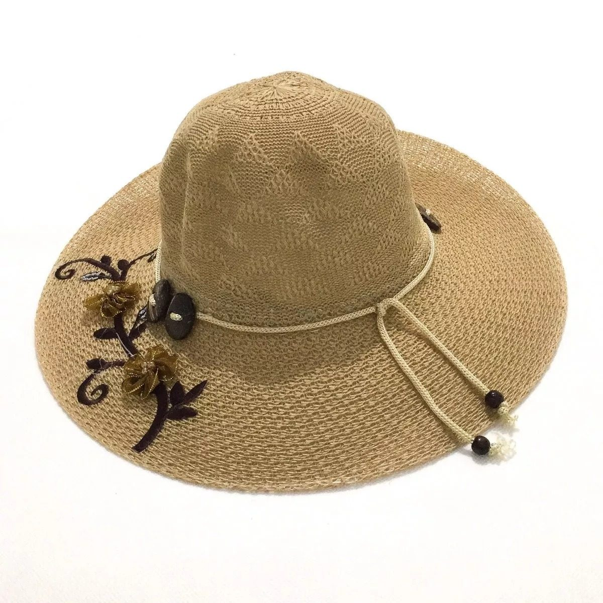 20 chapéu de praia verão poliéster rico em detalhe atacado. Carregando zoom. 0710acc247d
