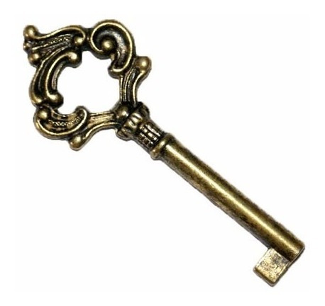 20 - chave de guarda roupa cômoda armário colonial luiz xv