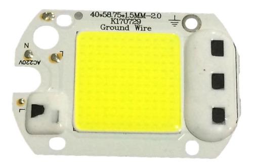 20 chip led 50w 6000k inteligente funciona sem reator 220v