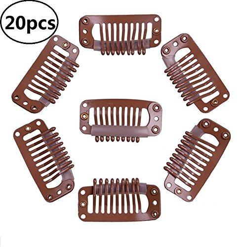 20 clips pelucas ebtoys con goma extensión de cabello.