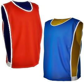 20 colete de futebol dupla face duas cores azul vermelho
