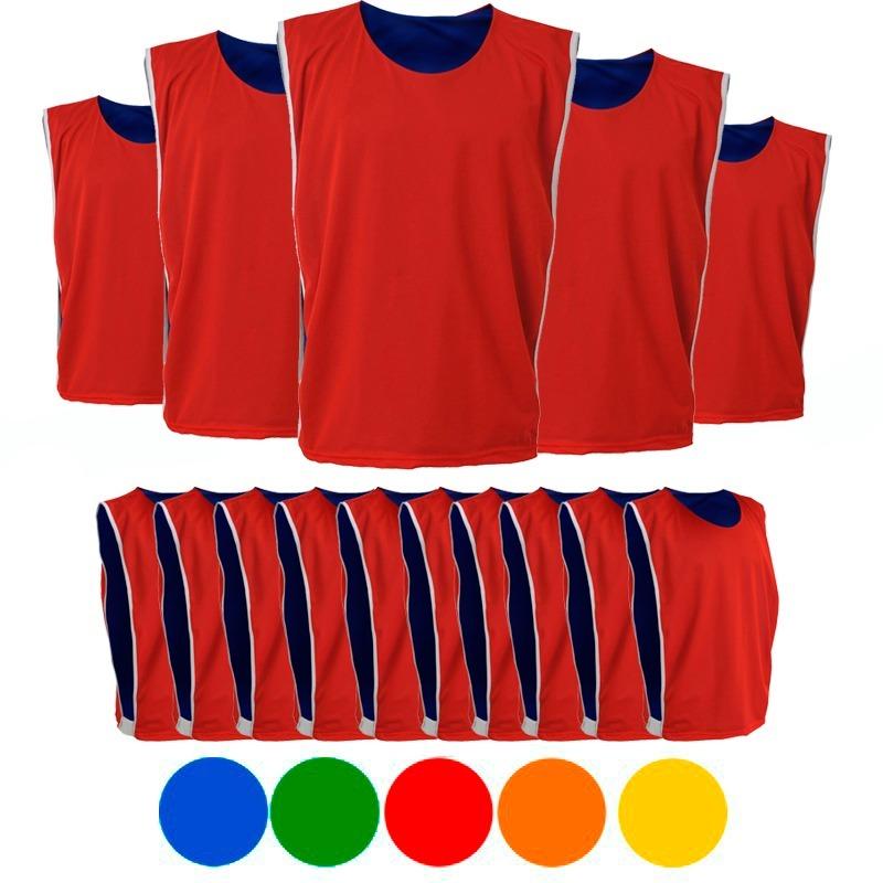73f5ab444a0ff 20 colete de futebol dupla face duas cores treino pelada. Carregando zoom.