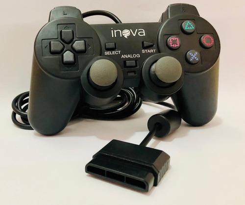 20 controle joystick playstation ps2 inova con-147b atacado