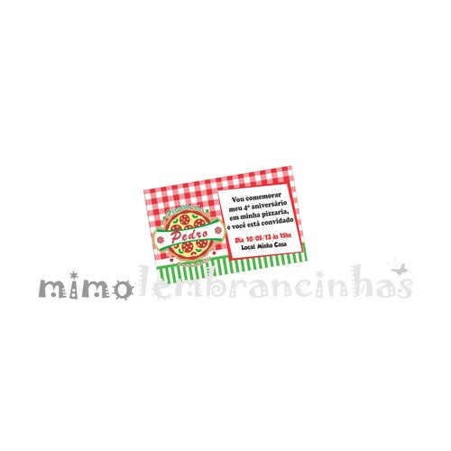 20 convites 10x15cm tema pizza, personalizado,
