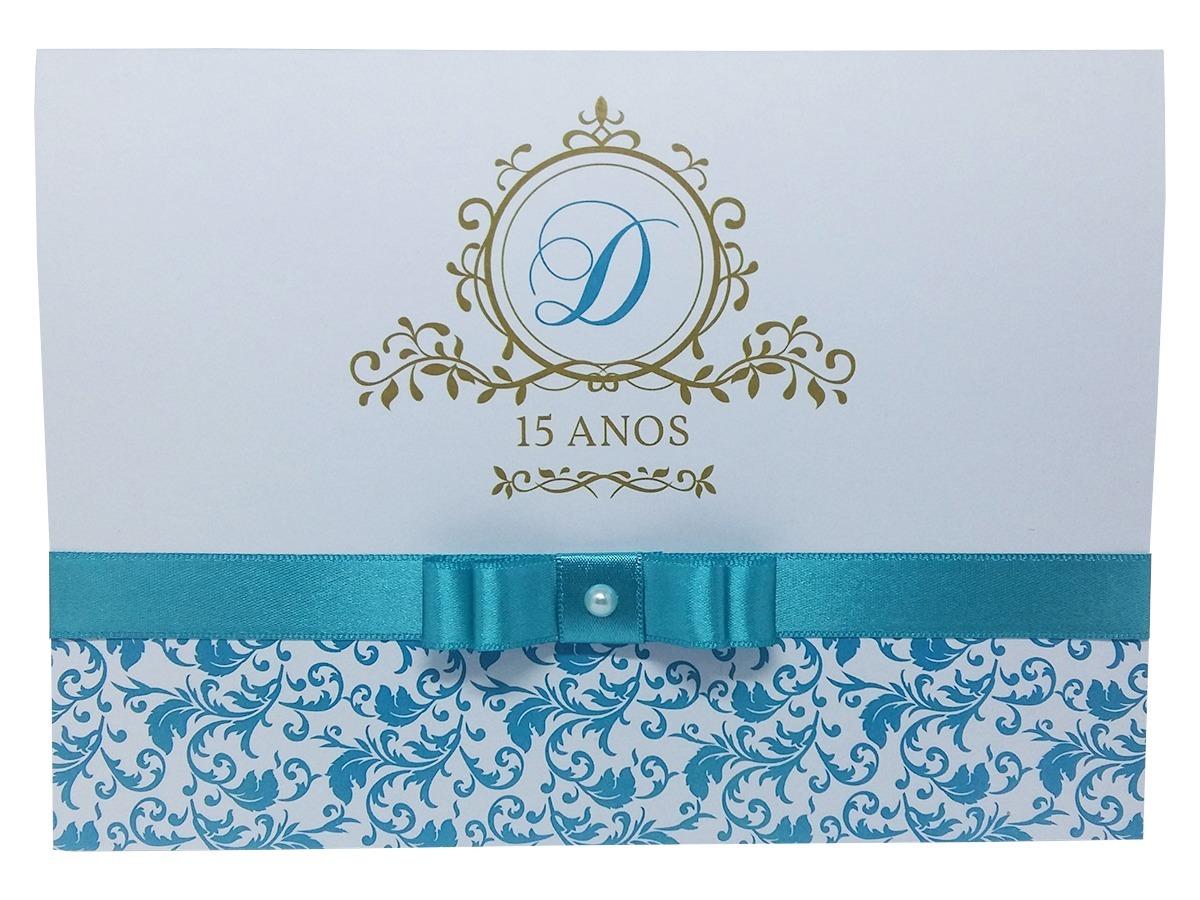Moldura Convite e Cartão Azul Tiffany Floral e Listras  20 convites 15 anos azul  tiffany e dourado - personalizado. Carregando zoom. 23681f9f5a