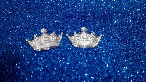 20 coroa frozen princesa elsa  acrilico prata  2cm *
