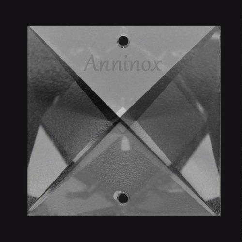 20 cristais asfour quadrado 2 furos 22mm para lustre