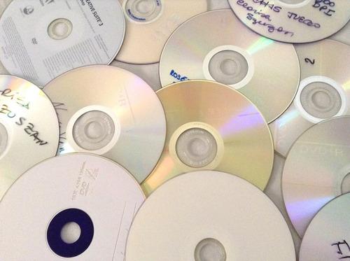 20 dvds usados para artesanía y reciclado