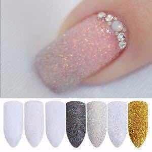 20 Efecto Azúcar Glitter Ideal En Uñas Acrílicas Gelish