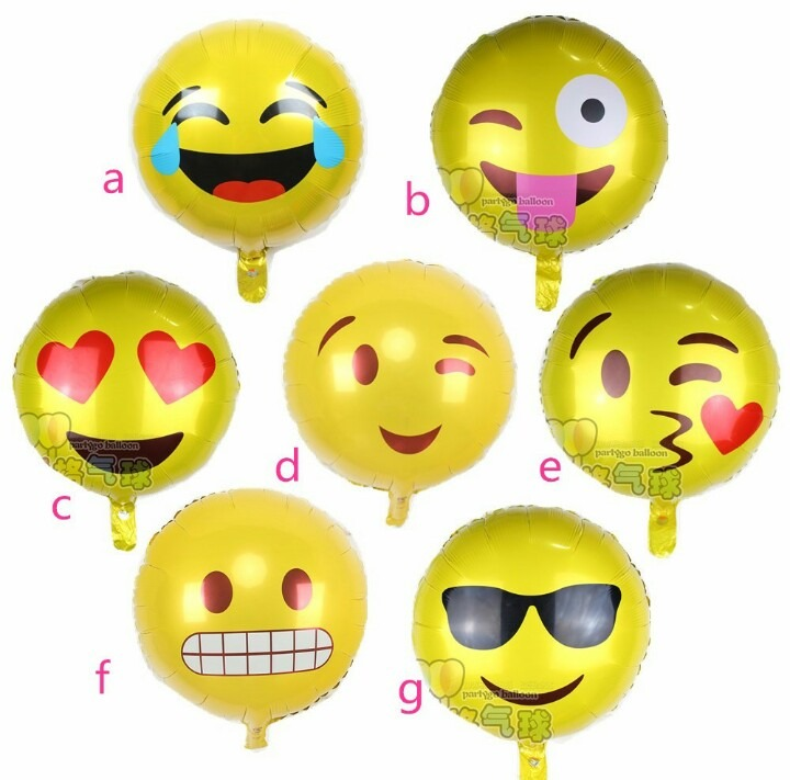 20 Emoji Globos Metalicos 18 Emoticon