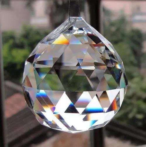 20 esferas de cristal k9 40mm feng shui e lustres