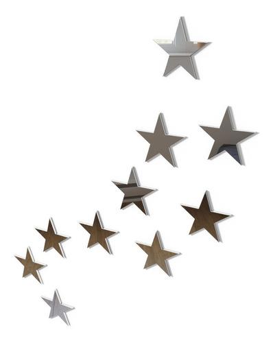 20 estrelas espelho decorativo quarto sala bebê acrílico
