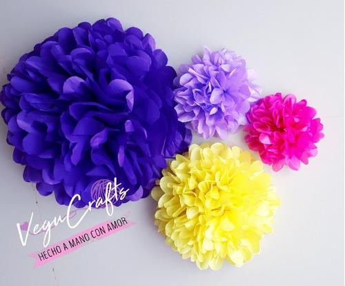 20 flores de papel, flor pompom de 35 cms de papel china