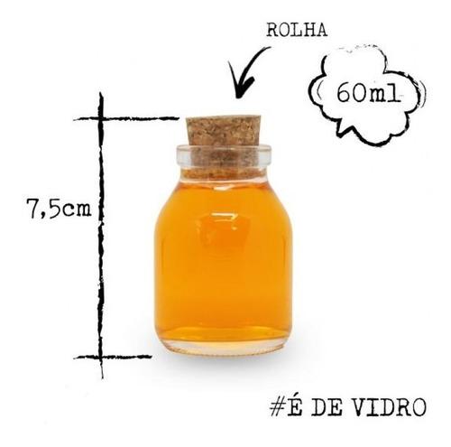 20 frasco de vidro 60ml garrafinha potinho sais lembrancinha