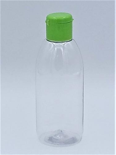 20 frasco pet 100ml para álcool gel tampa flip top