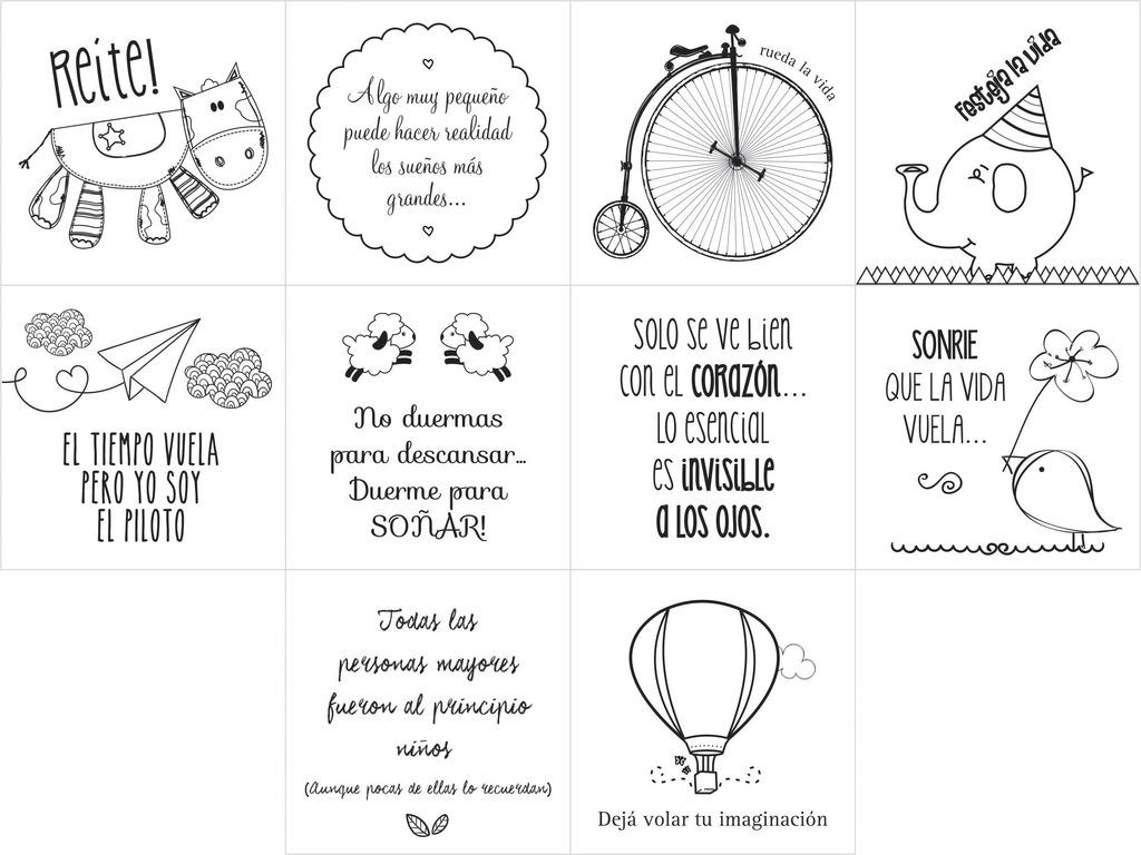 20 Frases Motivacionales En Vinilo Con Dibujos