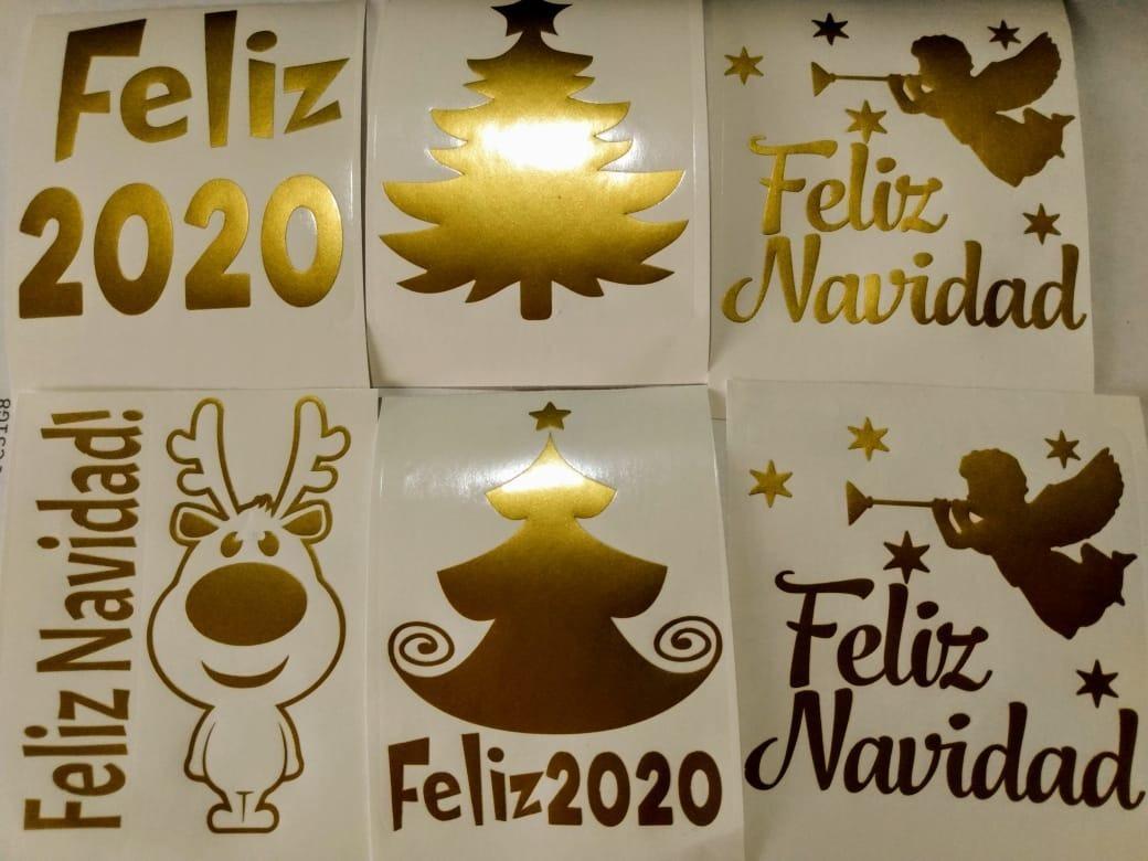 20 Frases Nombre Sticker Vinilo Corte Navidad