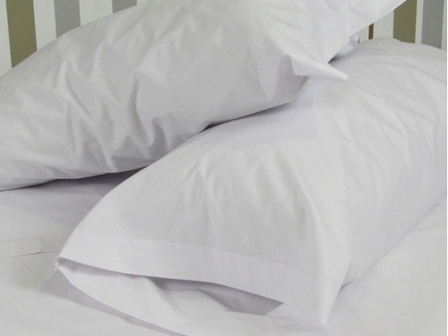 20 fundas standar blancas hoteleras 180hilos premier 80 x 50