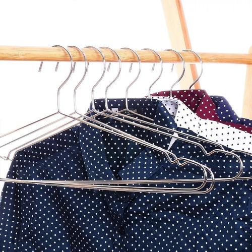 20 ganchos ropa acero closet resistentes  antideslizantes