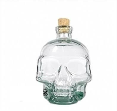 20 garrafas caveira vidro 200 ml vaso bebida presente