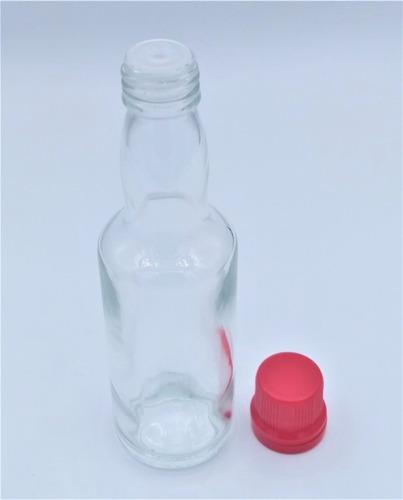 20 garrafinha de vidro 60ml molho pimenta batoque c/ furo