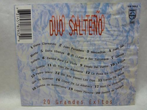 20 grandes exitos, duo salteño audio cd en caballito *