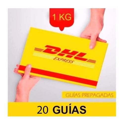 20 guía prepagada día siguiente dhl 1kg +recolección gratis