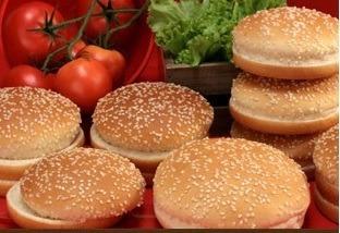20 hamburguesas gigantes 100%carne+ panes la perla c/ses +ad