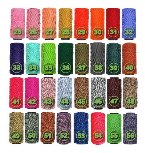 20 hilo encerado rollo 70m premium artesanos 54 colores once