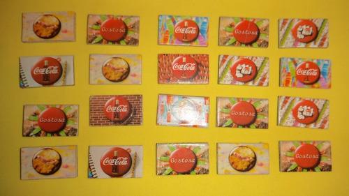 20 ímãs de geladeira minimania promoção coca-cola
