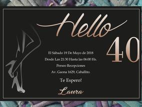 20 Invitación 40 Años Temática Zapato Cumpleaños Aniversario