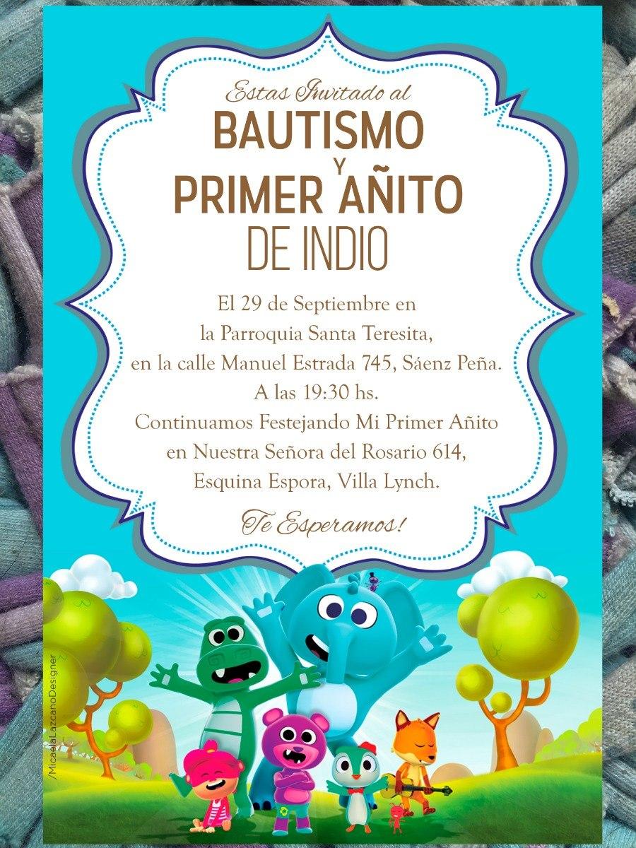 Cancion Cumpleanos.20 Invitacion Cancion Del Zoo Cumpleanos Bautismo